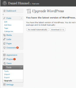 Automatische Updatefunktion in WordPress