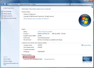 Windows 7 - Nachträgliche Aktivierung